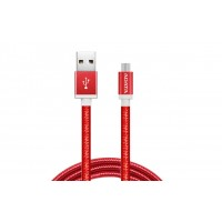 Adata Kabel USBmicroUSB 1m Red aluknit