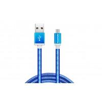 Adata Kabel USBmicroUSB 1m Blue aluknit