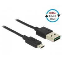 Delock Kabel Micro USB AMBM DUAL EASYUSB 50cm