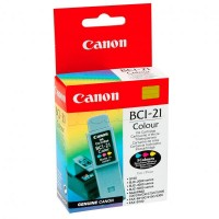 Canon oryginalny ink blistr, BCI21C, color, 120s, 0955A351, Canon BJC4000, 2000, 4100, 4400, 4650, 5500