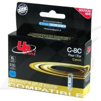 UPrint kompatybilny ink z CLI8C, cyan, 14ml, C8C, dla Canon iP4200, iP5200, iP5200R, MP500, MP800, z chipem