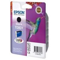 Epson oryginalny ink blistr z ochroną, C13T08014021, black, 7,4ml, Epson Stylus Photo PX700W, 800FW, R265, 285, 360, RX560