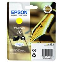 Epson oryginalny ink C13T16244020, T162440, yellow, 3.1ml, Epson WorkForce WF2540WF, WF2530WF, WF2520NF, WF2010