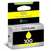 Lexmark oryginalny ink 14N0902E, #100, yellow, return, 200s, Lexmark S305, 405, 505, 605, PRO205, 705, 805, 905
