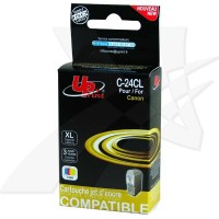 UPrint kompatybilny ink z BCI24C, color, 15ml, C24CL, dla Canon BCI24C  pro S200, S300, i320, i450, MPC200, 190