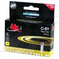 UPrint kompatybilny ink z CLI8Y, yellow, 14ml, C8Y, dla Canon iP4200, iP5200, iP5200R, MP500, MP800, z chipem