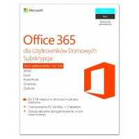Microsoft Office 365 Home PL P2 1Y 1User 5komputerów PC lub Mac 6GQ00704. Stare SKU 6GQ00173