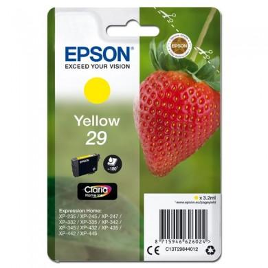Epson oryginalny ink C13T29844012, T29, yellow, 3,2ml, Epson Expression Home XP235,XP332,XP335,XP432,XP435