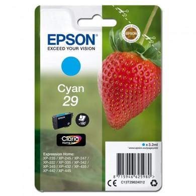 Epson oryginalny ink C13T29824012, T29, cyan, 3,2ml, Epson Expression Home XP235,XP332,XP335,XP432,XP435