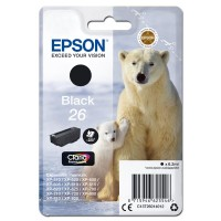 Epson oryginalny ink C13T26014012, T260140, black, 6,2ml, Epson Expression Premium XP800, XP700, XP600