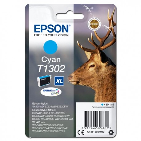 Epson oryginalny ink C13T13024012, T1302, cyan, 765s, 10,1ml, Epson Stylus Office BX320FW