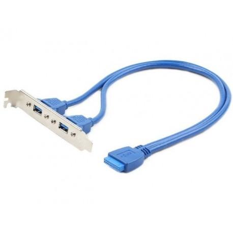 Gembird Gniazdo USB 3.0 x2 na śledziu