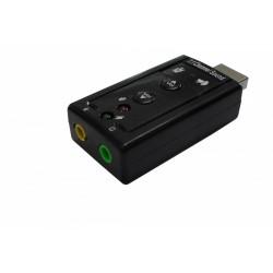 Elmak SAVIO AK01 Karta dźwiękowa USB 7.1, 16bit sound, Plug & Play, blister