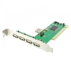 4world Kontroler PCI USB 2.0 4+1