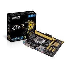 Asus H81MK s1150 H81 2DDR3 USB3 GLAN 8CH uATX
