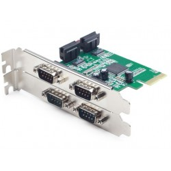 Gembird Karta PCI Express 4xCOM 9PIN