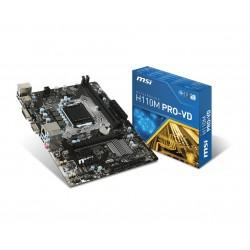 MSI H110M PROVD PLUS s1151 H110 2DDR4 USB 3.1 uATX