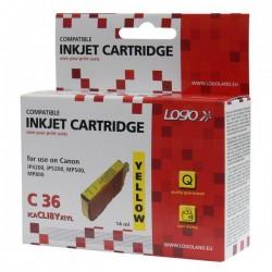 Logo kompatybilny ink z CLI8Y, yellow, 14ml, dla Canon iP4200, iP5200, iP5200R, MP500, MP800, z chipem