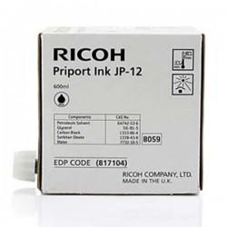 Ricoh oryginalny ink JP 12, black, 600ml, 817104, Ricoh DX3240, 3440, JP1210, 1215, 1250, 1255, 3000