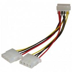 """Kabel do dysku twardego napájecí rozdvojka, DC 5,25"""" M DC 5,25"""" 2x F, 0.2m, color"""