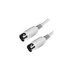 Kabel do klawiatury 5 pinový, 5 pin M 5 pin M, 2m, szary, Logo
