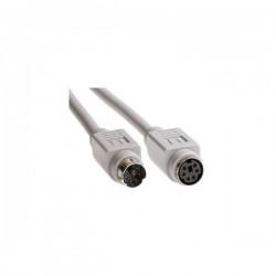 Kabel do klawiatury PS|2, PS|2 M PS|2 F, 2m, szary, Logo, blistr