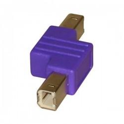 Redukcja (2.0), USB A  M USB B M, 0m, fioletowy, Logo