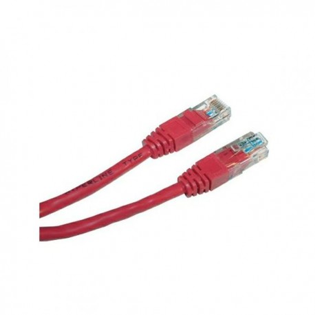 UTP patchcord UTP patchcord, Cat.5e, RJ45 M0.5m, nieekranowany, czerwony, economy