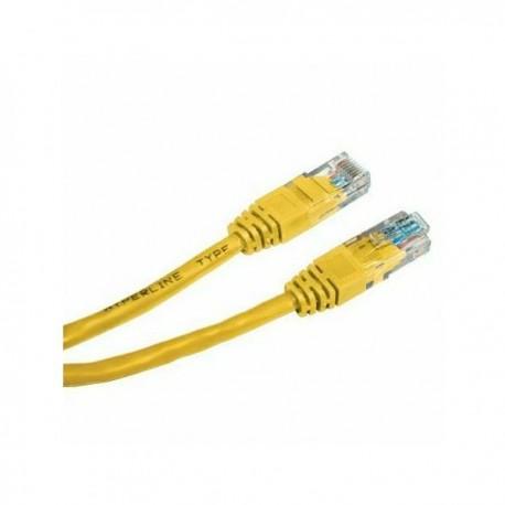 UTP patchcord UTP patchcord, Cat.5e, RJ45 M0.5m, nieekranowany, żółty, economy