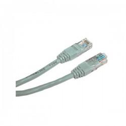 UTP patchcord UTP patchcord, Cat.5e, RJ45 M2m, nieekranowany, krzyżowy, szary, Logo, LOGO bag, do połączenia 2 PC