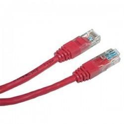 UTP patchcord UTP patchcord, Cat.5e, RJ45 M0.25m, nieekranowany, czerwony, economy