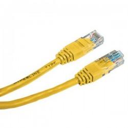 UTP patchcord UTP patchcord, Cat.5e, RJ45 M0.25m, nieekranowany, żółty, economy
