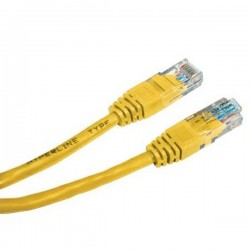 UTP patchcord UTP patchcord, Cat.6, RJ45 M0.5m, nieekranowany, żółty, economy
