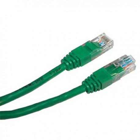 UTP patchcord UTP patchcord, Cat.6, RJ45 M0.5m, nieekranowany, zielony, economy