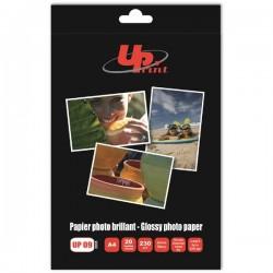 UPrint Glossy photopaper, foto papier, połysk, biały, A4, 230 g|m2, 20 szt., atrament