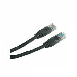 UTP patchcord UTP patchcord, Cat.5e, RJ45 M0.5m, nieekranowany, czarny, economy