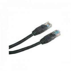 UTP patchcord UTP patchcord, Cat.5e, RJ45 M0.5m, nieekranowany, czarny, Logo, LOGO bag