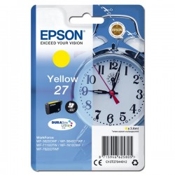 Epson oryginalny ink C13T27044012, 27, yellow, 3,6ml, Epson WF3620, 3640, 7110, 7610, 7620