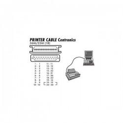 Kabel centronics C36 M 25 pin M, 3m, (18 pin) biały