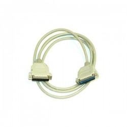 Kabel do transmisji danych paralelní, 25 pin M 25 pin M, 2m, laplink, biały, Logo, krzyżowy