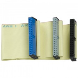 Kabel do dysku twardego ATA 100, HDD M HDD 2x F, 0.45m, 80 żył, szary