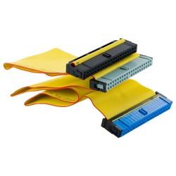 4world Taśma HDD | Dual Drive Ultra IDE100 | 45cm żółty