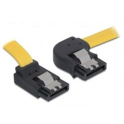 Delock Kabel SATA II 3Gb s 30cm kątowy prawo góra (metalowe zatrzaski) żółty