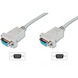 ASSMANN Kabel połączeniowy RS232 nullmodem Typ DSUB9|DSUB9 Ż|Ż beżowy 1,8m
