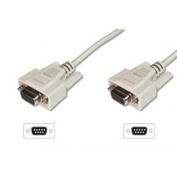 ASSMANN Kabel połączeniowy RS232 11 Typ DSUB9 DSUB9 Ż Ż beżowy 3m