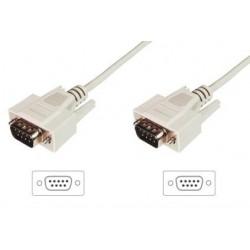 ASSMANN Kabel połączeniowy RS232 11 Typ DSUB9 DSUB9 M M beżowy 2m