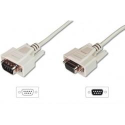 ASSMANN Kabel przedłużający RS232 11 Typ DSUB9 DSUB9 M Ż beżowy 2m