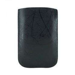 4world Etui GSM Eko skóra czarne  marmur