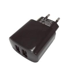 Tellsson Ładowarka sieciowa 2 X USB 2A M094 Czarna