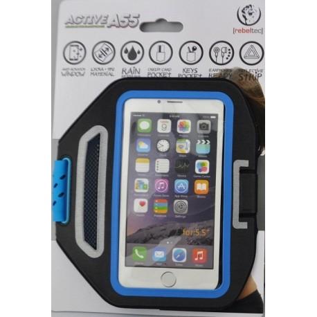 Rebeltec Etui opaska sportowa na ramię na telefon do 5,5 ACTIVE A55 kolor czarno niebieski